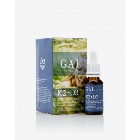 GAL K2-D3 vitamin Forte 1000 mcg - 60 adag