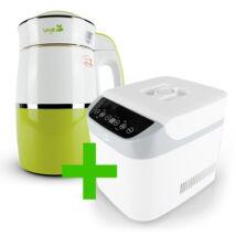Rainbow Kiwi Növényi italkészítő automata 1,8 l-es, nem tapadó réteggel ellátott tartállyal & White Csomag