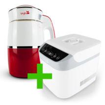 Rainbow Carmine Növényi italkészítő automata 1,8 l-es, nem tapadó réteggel ellátott tartállyal & White Csomag