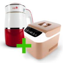 Rainbow Carmine Növényi italkészítő automata 1,8 l-es, nem tapadó réteggel ellátott tartállyal & Brown Csomag