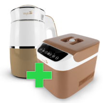 Rainbow Capuccino Növényi italkészítő gép, 1.8L,nem tapadó réteggel ellátott tartállyal & Brown Csomag