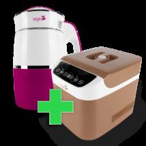 Rainbow Magenta Növényi italkészítő gép, 1.8L,nem tapadó réteggel ellátott tartállyal & Brown Csomag