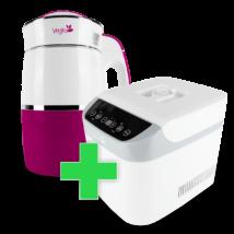 Rainbow Magenta Növényi italkészítő gép, 1.8L,nem tapadó réteggel ellátott tartállyal & White Csomag
