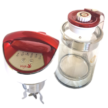 Glass Scarlet Családi növényi italkészítő automata, darálásmentes főzőfejjel - 1,3 l