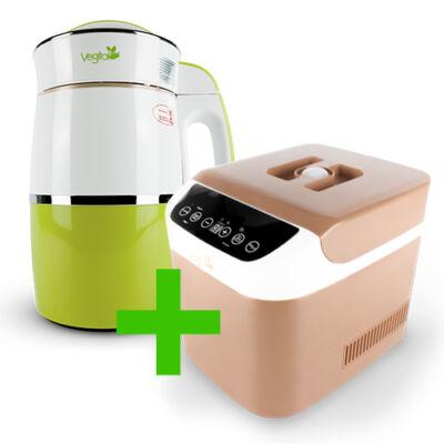 Rainbow Kiwi Növényi italkészítő automata 1,8 l-es, nem tapadó réteggel ellátott tartállyal & Brown Csomag