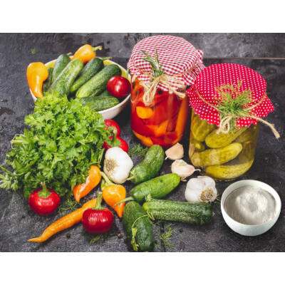 Zöldségek és gyümölcsök fermentáló starter keveréke