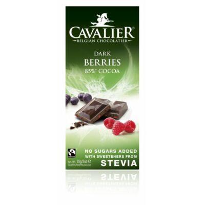 Cavalier táblás bogyós gyümis étcsokoládé 85g