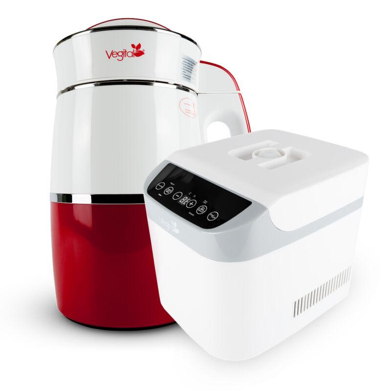 Rainbow Carmine Növényi italkészítő gép, 1.8 L & White Csomag
