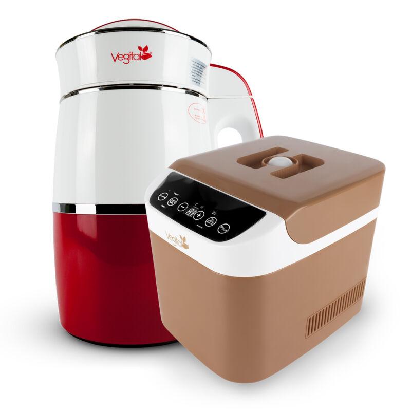 Rainbow Carmine Növényi italkészítő gép, 1.8 L & Brown Csomag