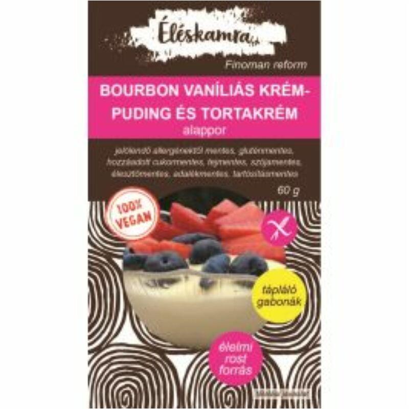 Vegán bourbon vaníliás krémpuding és tortakrém alappor 60 g